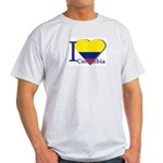 I love Colombia Ash Grey T-Shirt