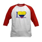 I love Colombia Kids Baseball Jersey