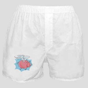 Cute Flying Pig Boxer Shorts