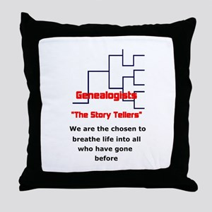 Genealogy Story Tellers Throw Pillow