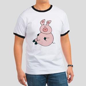 Cute Pig Ringer T