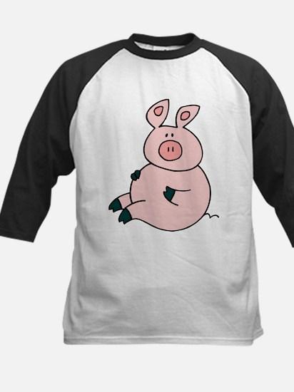 Cute Pig Kids Baseball Jersey