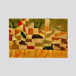 Paul Klee: Oriental Architecture Rectangle Magnet