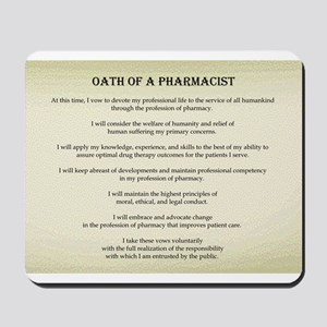 Pharmacist Oath Mousepad