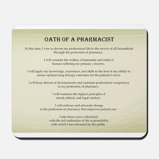 Pharmacist Oath Mousepad
