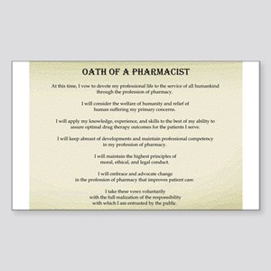Pharmacist Oath Rectangle Sticker