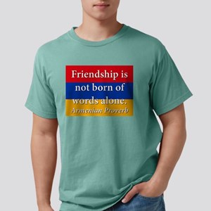 Frienship Is Not Born Mens Comfort Colors Shirt