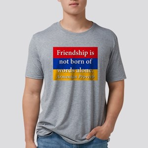 Frienship Is Not Born Mens Tri-blend T-Shirt