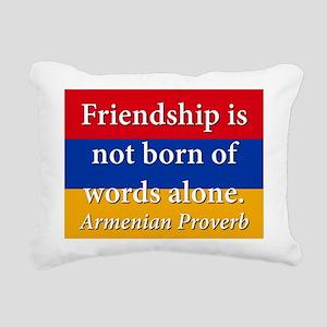 Frienship Is Not Born Rectangular Canvas Pillow