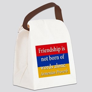 Frienship Is Not Born Canvas Lunch Bag