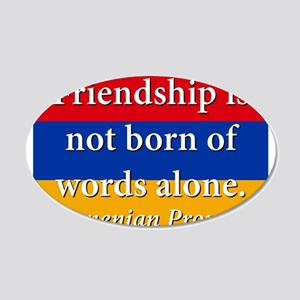 Frienship Is Not Born 20x12 Oval Wall Decal