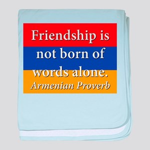 Frienship Is Not Born baby blanket