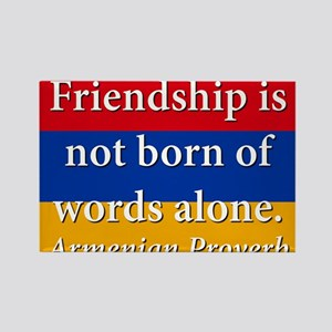 Frienship Is Not Born Rectangle Magnet