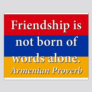 Frienship Is Not Born Small Poster