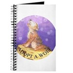 Adopt a wolf and wolf howling Journal