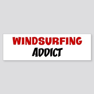 Windsurfing Addict Bumper Sticker