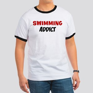 Swimming Addict Ringer T