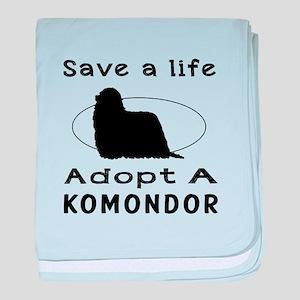 Adopt A Komondor Dog baby blanket