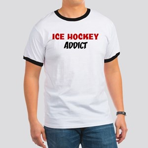 Ice Hockey Addict Ringer T