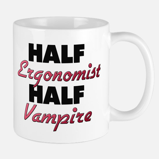 Half Ergonomist Half Vampire Mugs