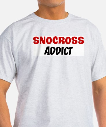 Snocross Addict Ash Grey T-Shirt