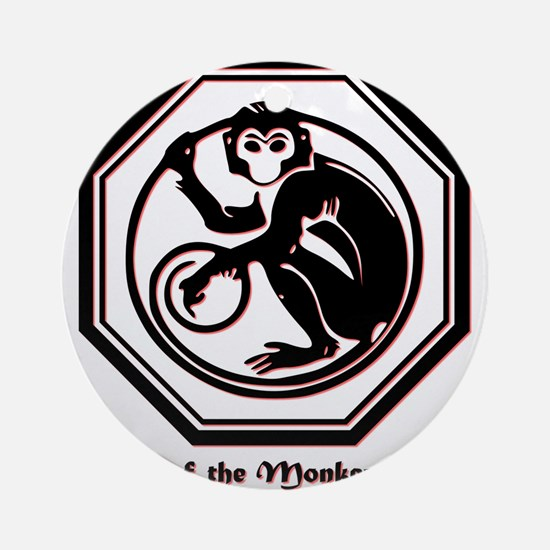 Year of the Monkey - 1968 Round Ornament