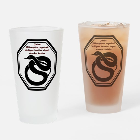 Year of the Snake - Traits Drinking Glass