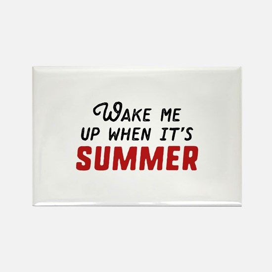 Wake Me Up Summer Rectangle Magnet