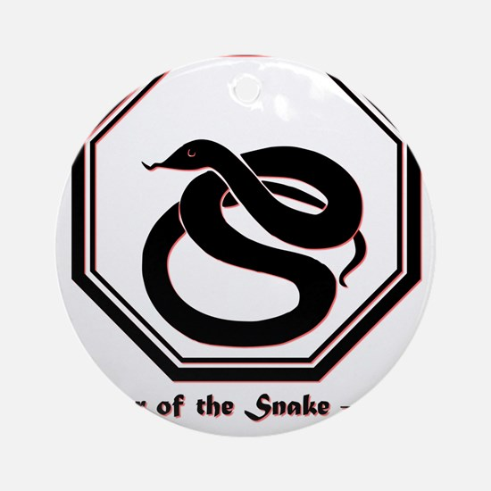 Year of the Snake - 1977 Round Ornament