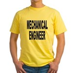 Mechanical Engineer Yellow T-Shirt
