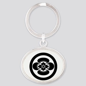 Mokko in circle Oval Keychain