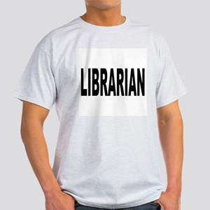 Librarian (Front) Ash Grey T-Shirt