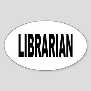 Librarian Oval Sticker