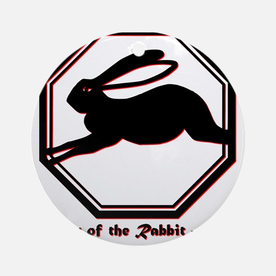 Year of the Rabbit - 1999 Round Ornament