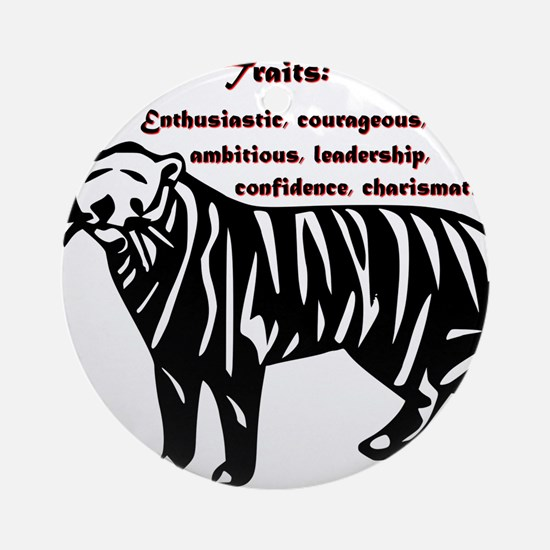 Year of the Tiger - Traits Round Ornament