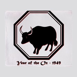 Year of the Ox - 1949 Throw Blanket