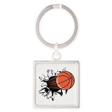 Breakthrough Basketball Square Keychain