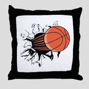 Breakthrough Basketball Throw Pillow