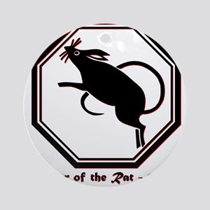 Year of the Rat - 1984 Round Ornament