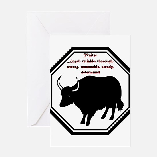 Year of the Ox - Traits Greeting Card