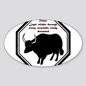 Year of the Ox - Traits Sticker (Oval)