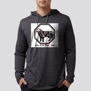 Year of the Tiger - 1986 Mens Hooded Shirt