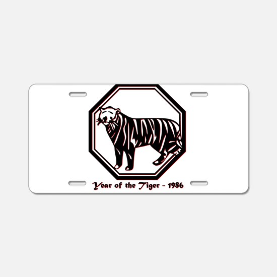 Year of the Tiger - 1986 Aluminum License Plate