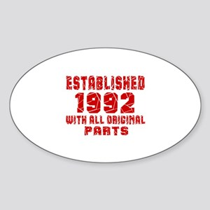 Established 1992 With All Original Sticker (Oval)