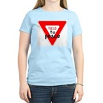 Yield to Peace Women's Pink T-Shirt