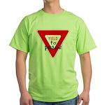 Yield to Peace Green T-Shirt