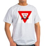 Yield to Peace Ash Grey T-Shirt