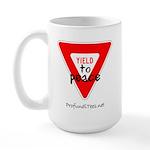Yield to Peace Large Mug