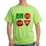 Four Signs of Peace Green T-Shirt