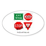 Four Signs of Peace Oval Sticker